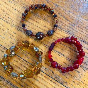 Set of Beaded Bracelets
